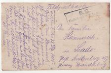 Feldpost Ak Luftschiffer Abt. 8 14 Landwehr Division Gaskolonne Stempel 1915 WWI