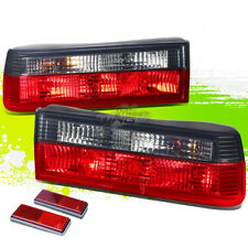FOR 83-91 BMW E30 3-SERIES/M3 SMOKED HOUSING RED LED REAR SIGNAL TAIL LIGHTS