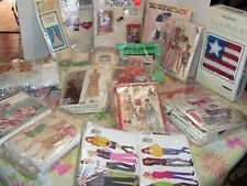 Vintage Patterns Lot Quilting Latch Hook Doll Kit Embroidery Needlepoint