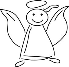 Schutzengel 2er Set, Autoaufkleber Engel Angel für Auto in Wunschfarbe