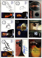 TRADING CARDS:Planche N° 19      COSTUMES,AUTOGRAPHS  divers