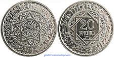 MAROC  ,  20  FRANCS    1366    ESSAI  ,  FLEUR  DE  COIN