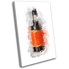 Worcester Sauce Abstract Food Kitchen SINGLE DOEK WALL ART foto afdrukken