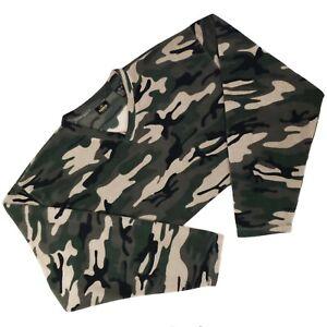 RedHead 2XL Camo Shirt Fleece Pullover Sweatshirt Mens XXL Green Multicolor Size