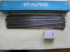 100 Radios Dt Swiss Alpine 2,3 x 2 , 0 Plata 300mm de largo con PEZÓN