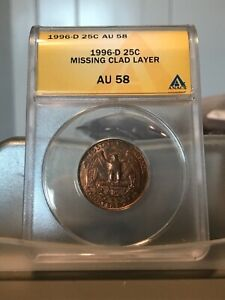 1996-D Quarter Missing Clad Layer on Reverse Before Strike Error - RARE - Offer?