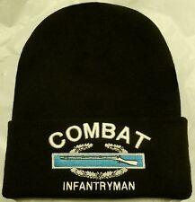 US ARMY COMBAT INFANTRYMAN INFANTRY BADGE CIB SOLDIER BEANIE WATCH CAP KNIT HAT