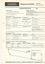 Grundig Service istruzioni manual Elite-Boy Automatic 206 b1097