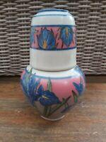 Vintage Santa Barbara Ceramic Design 81 Iris Design Water Jug And Cup