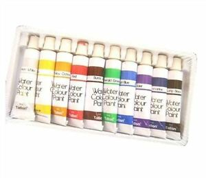 8 x 6ml Water Colour Paints Tube Kids Artist School Painting Children Craft Set
