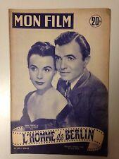 MON FILM N°409 1954 L'HOMME DE BERLIN / JAMES MASON - CLAIRE BLOOM
