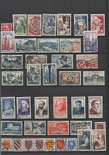1954  - Année complète oblitérés   (04-035.14)