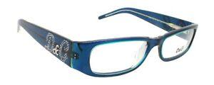 New Authentic Dolce&Gabbana D&G 1139-B 657 Blue Green Plastic Eyeglasses Frame