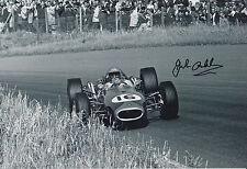 JACK BRABHAM Firmato a Mano 12x8 PHOTO Cooper f1 1.