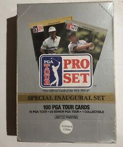 LOT of (4) 1990 Pro Set PGA Tour Golf Sealed Unopened Inaugural Set Boxes