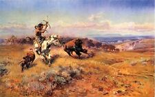 WESTERN ART POSTER Fresh Meat - Charles M Russell NEW