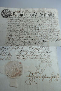 Document Schnaittach 1743, Ehevertrag J.Pfister, Signed J. F. A. From Velhorn