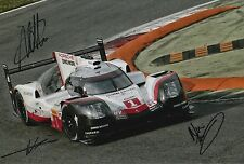 Lotterer, Tandy, Jani Hand Signed Porsche Racing 12x8 Photo Le Mans 2017 2.