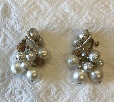 Gorgeous Miriam Haskell Pearl Dangle Earrings