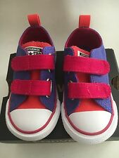 Toddler Converse All Star CT 2V OX Sneakers Periwinkle/Berry SZ 6