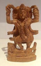 Kaali Wood carved Handmade Statue Shiva Meditation Durga Kali Maa Hindu Goddess