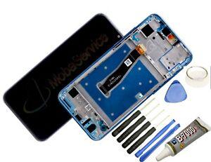 Display Für Huawei Honor 10 Lite Komplettes Bildschirm Lcd Touch Rahmen Blau +