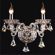 NEW Smokey Gray 2-Light Chandelier Crystal Wall Sconce Lighting Lamp Home Decor