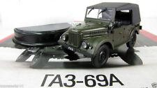 GAZ-69 A 1:43 deagostini 4wd 4X4 Soviet jeep car diecast model Russian cars