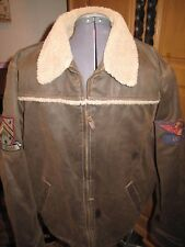 L Planet Hollywood Brown Leather Bomber Jacket LAS VEGAS