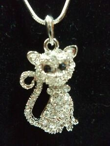 Silverplate & Crystal Charm on Stainless Steel Chain Necklace: 9 to Choose NWOT