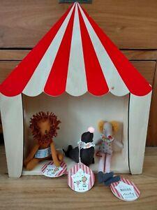 Lot mini poupée neuve Harpon maileg cirque rare otarie lion souris et chapiteau