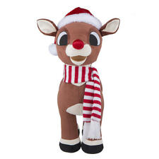 """Rudolph The Red Nose Reindeer 21""""  Holiday Greeter NEW"""