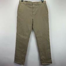 DKNY Mens Slim Fit Tapered Leg Sateen Pants Khaki 34x32