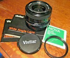 NIKON AI Mount 28mm f2.8 VIVITAR WIDE Angle Lens & HOYA 49 mm SKYLIGHT FILTER