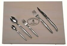 (D) Laguiole Jean Dubost Flatware Stainless Steel Flatware Set in Clasp Box 20pc
