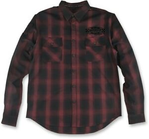 Lethal Threat Built 4 Speed Flannel Shirt T-Shirt Motorcycle Street Bike