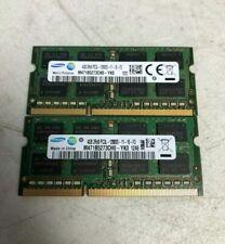 Samsung 8GB (2X4GB) DDR3 1600MHz 2RX8 PC3L-12800S 1.35V SODIMM Laptop Memory