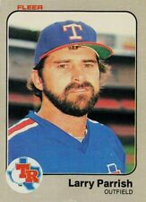 1983 Fleer Texas Rangers Baseball Card #574 Larry Parrish