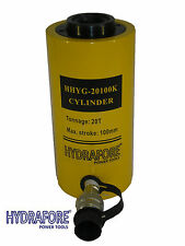 "20 tons 4"" Single acting Hollow Ram 10000PSI Hydraulic Cylinder Jack YG-20100K"