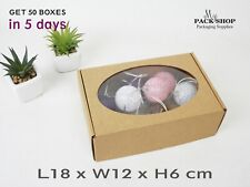 Cardboard Box With Window Clear Lid Boxes Handmade Gift Packaging Soap Cakes
