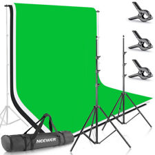 Neewer 8.5ft X 10ft Background Support Stand Set with 3 6ft X 9ft Backdrop