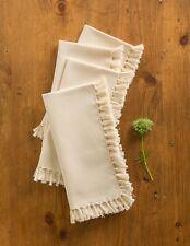 April Cornell Kitchen Napkins Set/4 NWT 100% Cotton Ecru