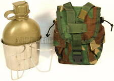 NEW 1QT OD CANTEEN w NBC Cap & STAINLESS CUP w USED 1 Quart Molle WOODLAND Cover