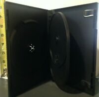 """1 Premium Black Triple Three 3 Discs DVD Case From New Media, Standard 1/2"""" 14mm"""