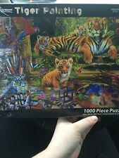 Tiger Painting Made In Usa 1000 Piece Puzzle By Vermont Christmas Company Seal