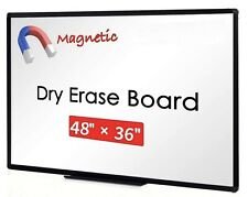 Dry Erase Board 48 X 36 Office Whiteboard Aluminum Frame 1 Listing With 3 Pcs