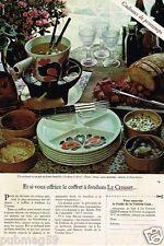 Publicité advertising 1978 Le Coffret à Fondue Le Creuset