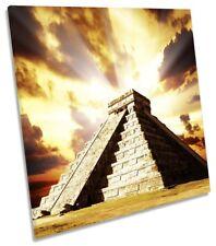 Pirámide Chichen Itza México LONA pared arte Foto impresión Cuadrado