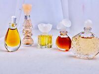 LOT OF 5 Mini Perfume CHLOE, DALISSIME, OMBRE ROSE, OSCAR DE LA RENTA , HALSTON
