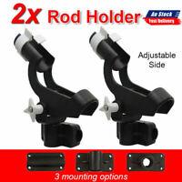 2x Fishing Rod Holder Boat Mount Rack Kayak Adjustable Side Tackle Marine  Black